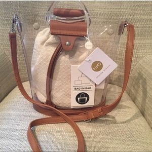 New MMS Design the perfect clear cross body bag